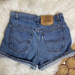 Vintage Levi's Button Fly High Rise Denim Shorts